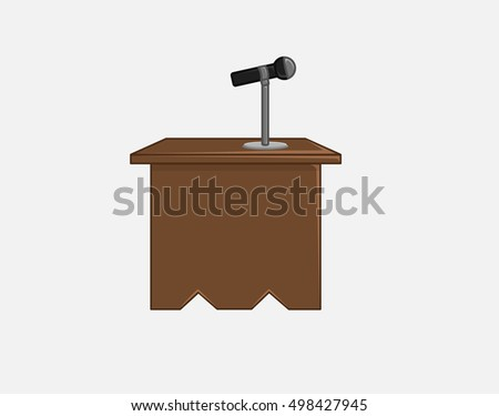 Mic on Table - Ceminar Concept