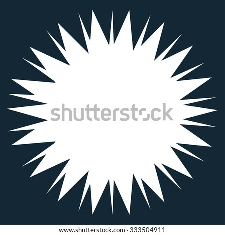 Microbe Spore vector icon. Style is flat symbol, white color, rounded angles, dark blue background.