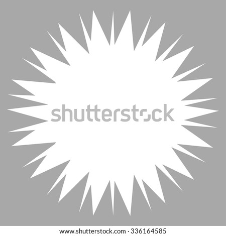 Microbe Spore vector icon. Style is flat symbol, white color, rounded angles, silver background.