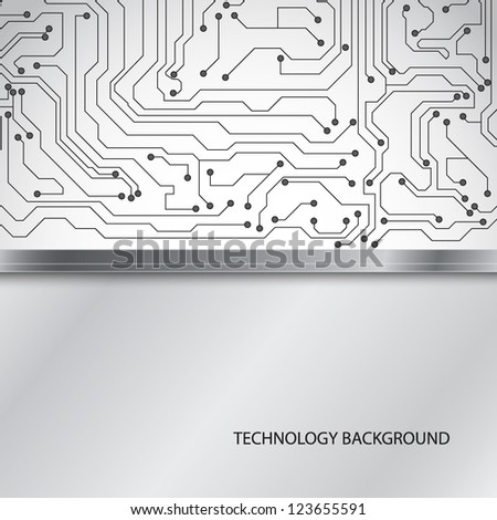 Microchip background. EPS10 vector