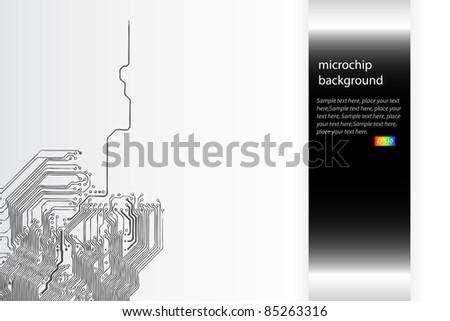 Microchip background vector - stock vector