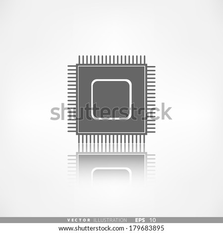 Microchip web icon - stock vector