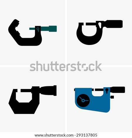 Micrometers - stock vector