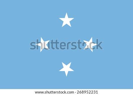 Micronesia Flag  - stock vector