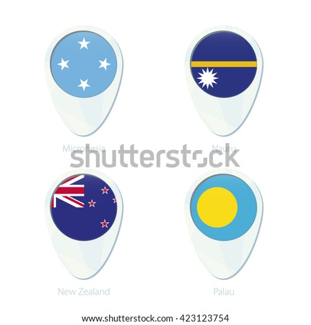 Micronesia Nauru New Zealand Palau Flag Stock Vector 423123754