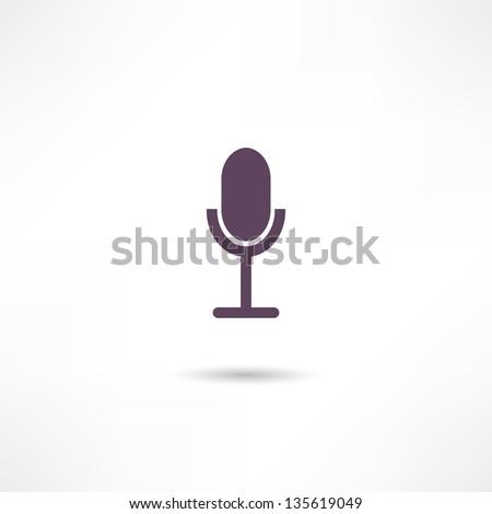 microphone icon - stock vector