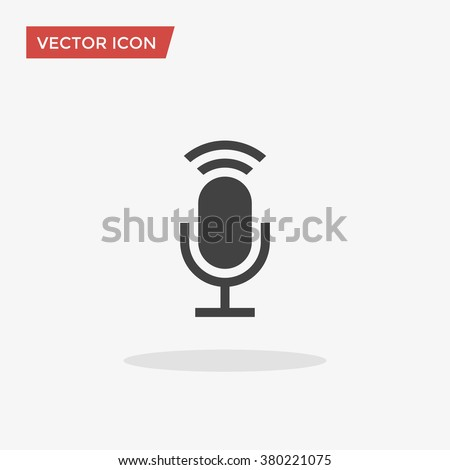 Microphone Icon in trendy flat style isolated on grey background, for your web design, app, logo, UI. Vector illustration, EPS10. - stock vector