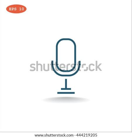 Microphone icon. Microphone icon Vector. Microphone icon Art. Microphone icon eps. Microphone icon Image. Microphone icon logo. Microphone icon Sign. Microphone icon Flat.Microphone icon design - stock vector