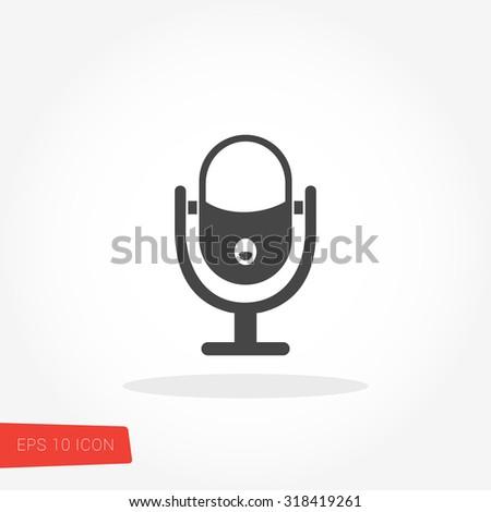 Microphone Icon / Microphone Icon Vector / Microphone Icon Image / Microphone Icon Graphic / Microphone Icon Art / Microphone Icon JPG / Microphone Icon JPEG / Microphone Icon EPS / Microphone Icon AI - stock vector