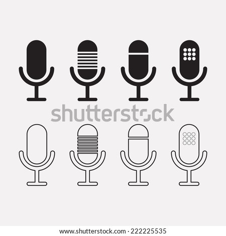 Microphone icon. Speaker symbol. Live music sign.  - stock vector