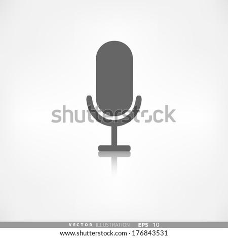 Microphone icon. Voice recording - stock vector