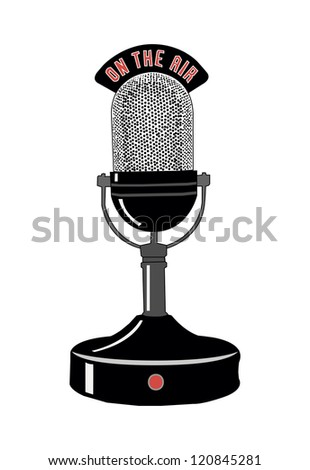 microphone isolated on white background - stock vector
