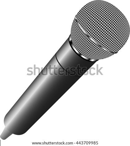 Microphone realistic icon vector