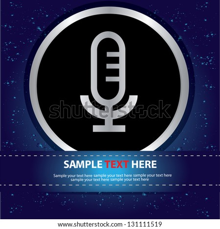 Microphone sign,vector - stock vector