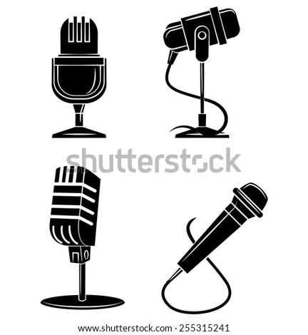 Microphone Symbol - stock vector