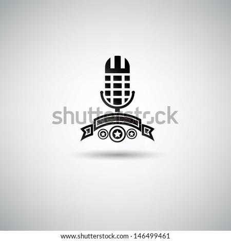 Microphone symbol,vector - stock vector