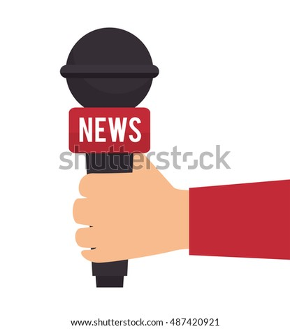 microphone tv news graphic isolated
