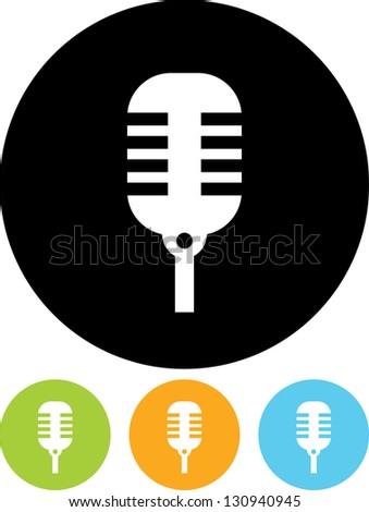 Microphone Vector icon isolated - stock vector