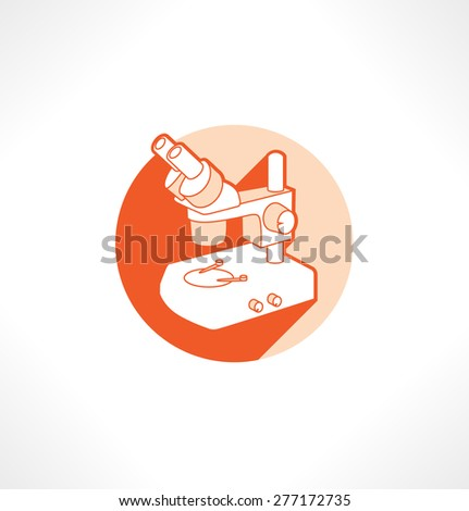 Microscope flat style vector Illustration. - stock vector