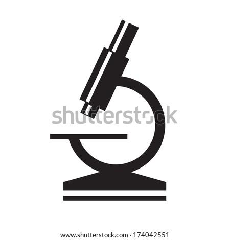 microscope icon - stock vector
