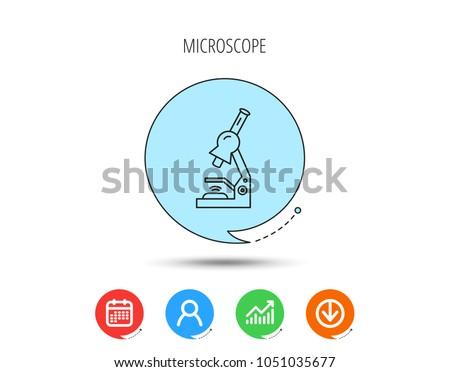 Microscope icon medical laboratory equipment sign stock vector microscope icon medical laboratory equipment sign pathology or scientific symbol calendar user ccuart Gallery