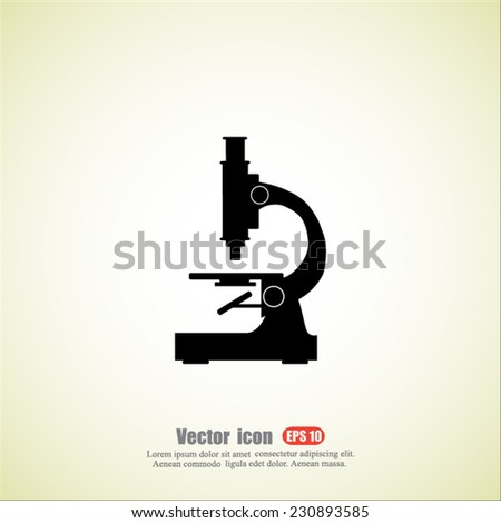 microscope  vector icon - stock vector