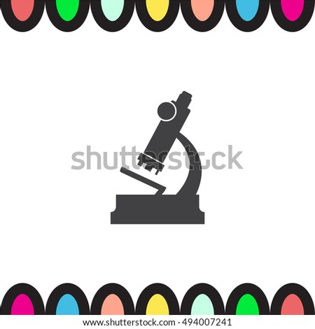 Microscope vector icon. Magnifying device sign. Laboratory equipment symbol