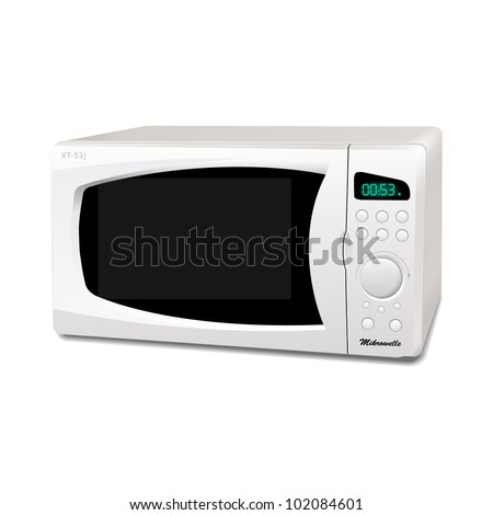 Microwave oven vector - stock vector