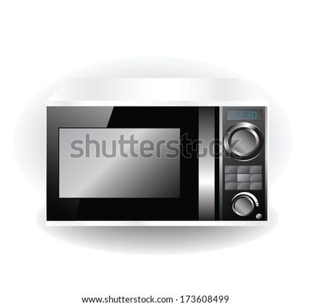 microwave vector - stock vector