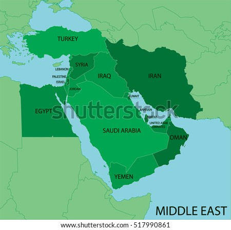 Middle East Map Stock Images RoyaltyFree Images Vectors - Middle east map