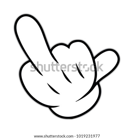 middle finger icon symbol logo sign stock photo photo vector rh shutterstock com Flip Off Middle Finger Silhouettes Custom Middle Finger