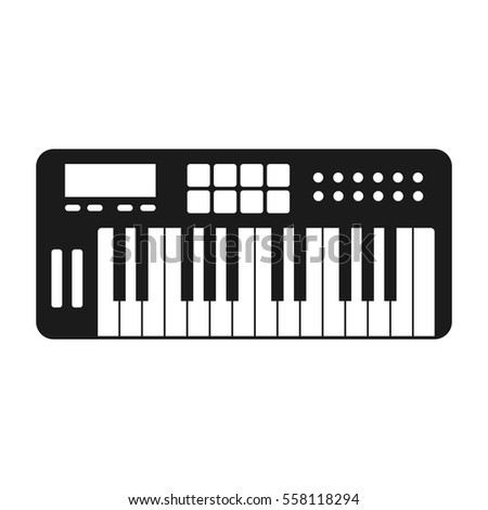 Midi Keyboard Vector Icon