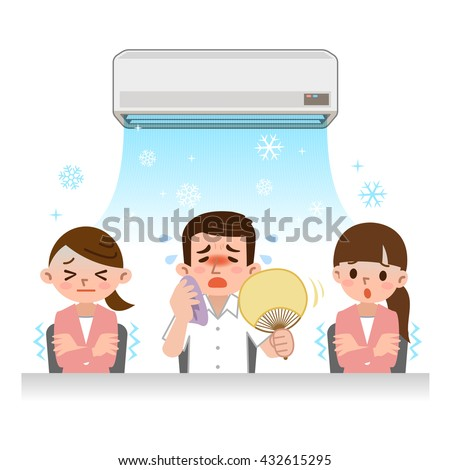 Midsummer of office image - stock vector