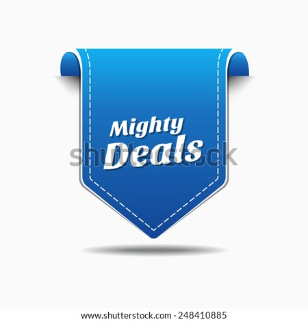 Mighty Deals Blue Vector Icon Design