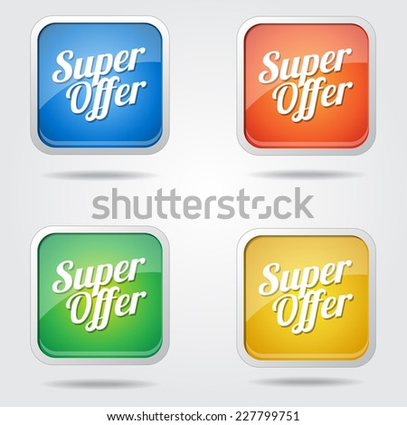 Mighty Offer Colorful Vector Icon Design