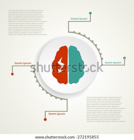 Migraine infographic background. - stock vector