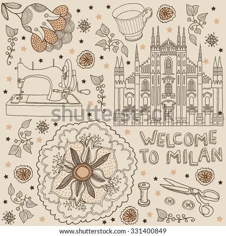 milan. background  - stock vector