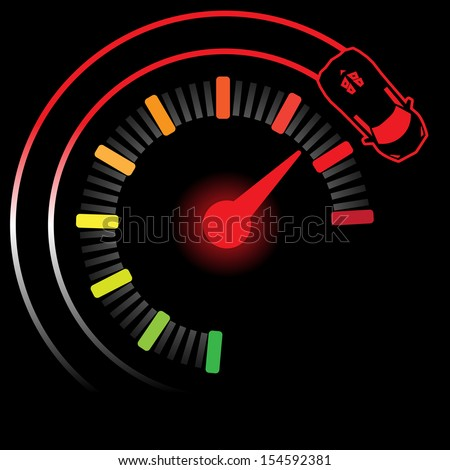mile turbo ,Illustration eps 10 - stock vector