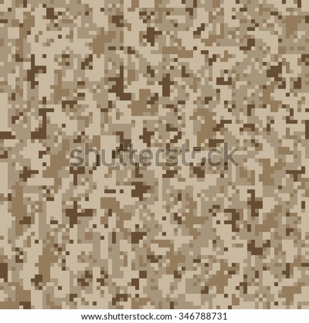 Military Camouflage Textile Seamless: USA, 2010, NWU-2 (Navy Working Uniform Type 2) Desert - Vector Illustration with Pattern in Swatches Panel - stock vector