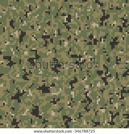 Military Camouflage Textile Seamless: USA, 2010, NWU-3 (Navy Working Uniform Type 3) Tropical - Vector Illustration with Pattern in Swatches Panel - stock vector