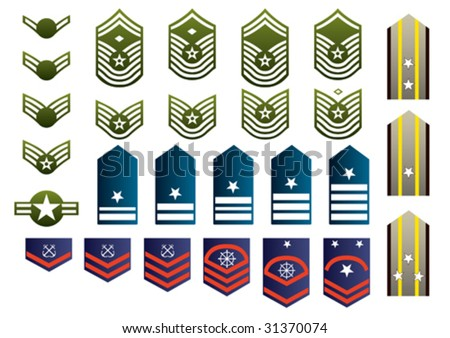 Military insignia isolated. Vector illustration. - stock vector