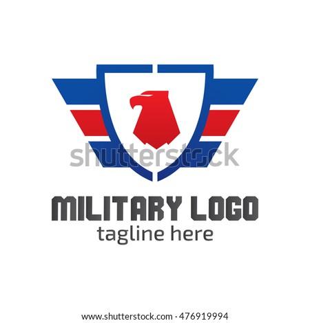 military logo design template stock vector 476919994 shutterstock