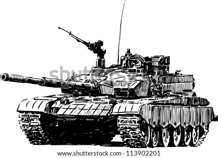military machine - stock vector