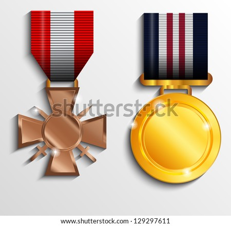 Military medal - stock vector