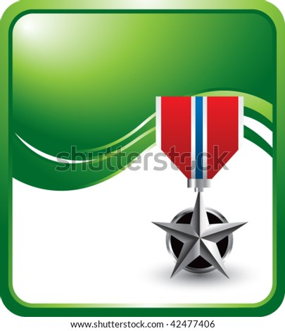 military medal green wave backdrop