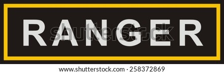 Military patch - stock vector