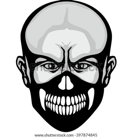 military skull mask  design t-shirts - stock vector