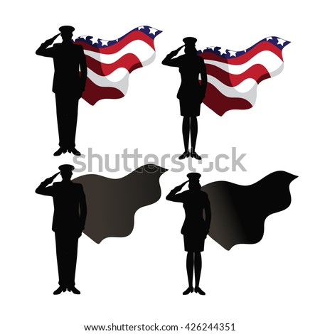 Military super heroes collection. EPS 10 vector. - stock vector