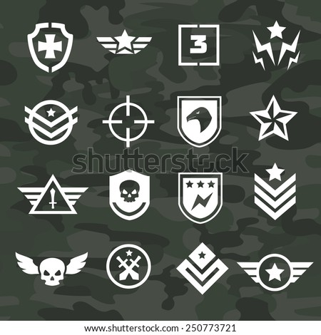 Military symbol icons and logos special  forces - stock vector