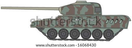 military tank - vector